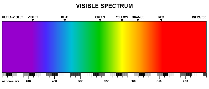 Visible Light on the Electromagnetic Spectrum