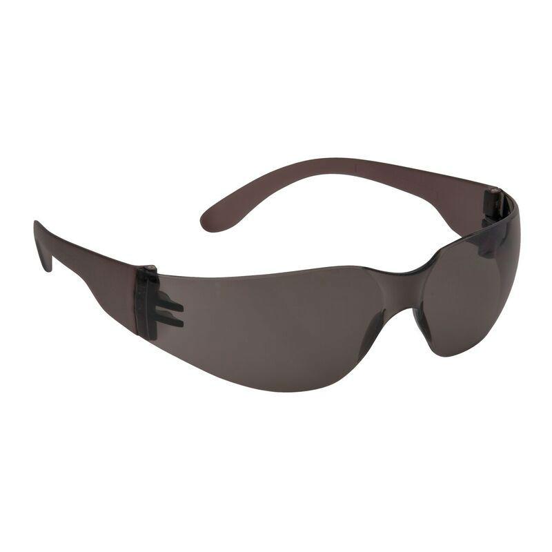 5cb1b39c724e Portwest Smoke Lens Wraparound Safety Glasses PW32BKR ...