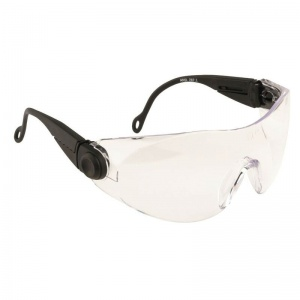 Portwest Clear Contoured Safety Glasses PW31CLR