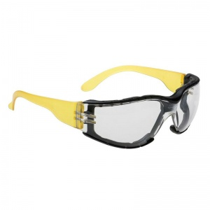 Portwest Clear Wraparound Plus Safety Glasses PS32CLR