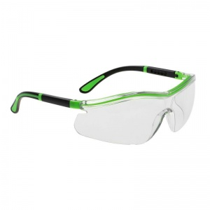 Portwest Clear Neon Safety Glasses PS34CLR