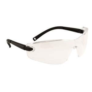 Portwest Clear Profile Frameless Safeguard Safety Glasses PW34CLR