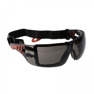 Portwest Smoke Lens Tech Look Plus Safety Glasses PS11SKR