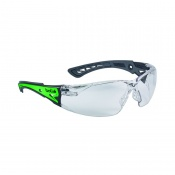 Bollé Rush+ Phosphorescent Clear Safety Glasses RUSHPGLO