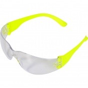 UCi Java Clear Safety Glasses with Hi-Vis Arms I907-HVY