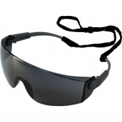 UCi Solomon Smoke Lens Adjustable Safety Glasses with Neck Cord I707
