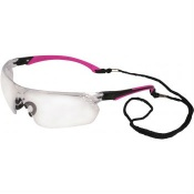 UCi Tiran Clear Safety Glasses with Pink Arms S8012