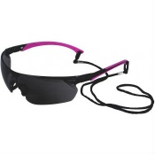 UCi Tiran Smoke Lens Safety Glasses with Pink Arms S8012