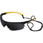 UCi Tiran Smoke Lens Safety Glasses with Yellow Arms S8012