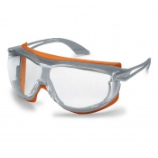 Uvex Skyguard NT Orange-Framed Clear Safety Glasses 9175-275