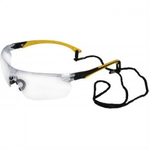 UCi Tiran Clear Safety Glasses with Yellow Arms S8012